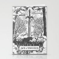 Legend of Zelda Master Sword Vintage Tarot Scene Stationery Cards