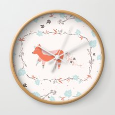 fox & grapes Wall Clock