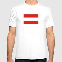 Austria Country Flag Mens Fitted Tee White SMALL