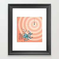 Singing Octopus Framed Art Print