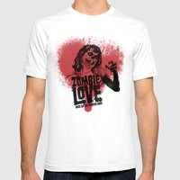 Zombie Love Mens Fitted Tee White SMALL