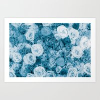 Bouquet ver.bluegreen Art Print