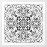 Pattern In Black & White Art Print