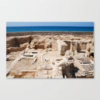 Ruins By The Mediterrane… Canvas Print