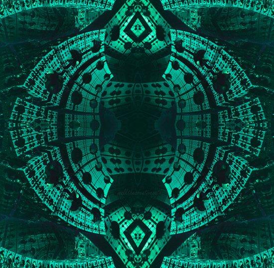 underwater turquoise structure Art Print