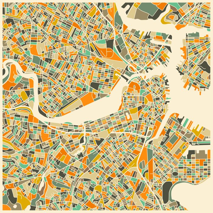 This is a picture of Exceptional Printable Map of Boston