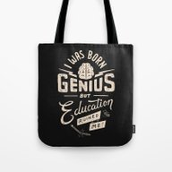 Born Genius Tote Bag