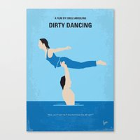 No298 My Dirty Dancing minimal movie poster Canvas Print