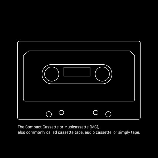 The Compact Cassette or Musicassette Art Print