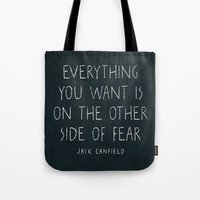 I. The other side of fear. Tote Bag