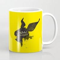 I'm late! – White Rabbit Silhouette Quote Mug