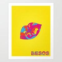 Besos Art Print
