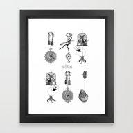 Framed Art Print featuring A Weird Natural Love # 3 by Conrado Maleta & Naa…
