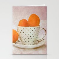 A Cup Full Of Apricots Stationery Cards