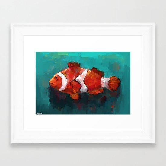 Red Clown Framed Art Print