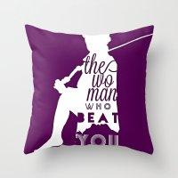 Beat You Throw Pillow