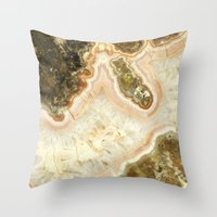 Pink Agate Throw Pillow