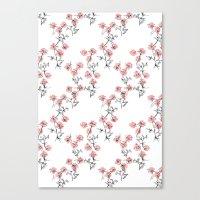 X Flowers Canvas Print