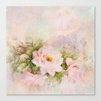 delicate vintage rose Canvas Print