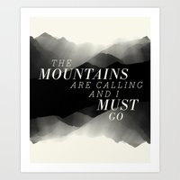 Mountains - BW Art Print