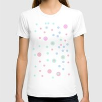 Candy Dots Womens Fitted Tee White SMALL