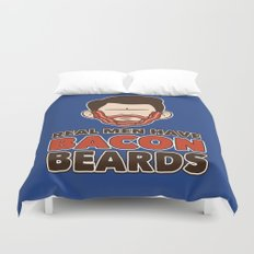 Bacon Beard (men's version) Duvet Cover