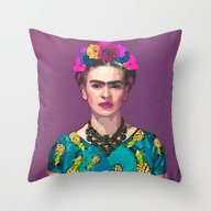 Throw Pillow featuring Frida Kahlo-Trendy  by Xchange Studio