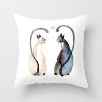 Cat Love Throw Pillow