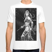 Elektra Mens Fitted Tee White SMALL
