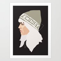 Feminist (Silver) Art Print