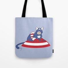 Captain AmeriCAT: The First Catvenger Tote Bag