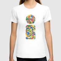 Letter i Womens Fitted Tee White SMALL