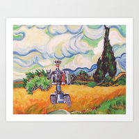 Wheat Field With Johnny … Art Print