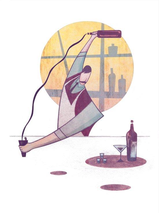 Pour Bar Art Print