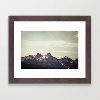 Mountain Ridge Morning Framed Art Print