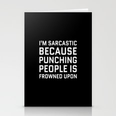 I'M SARCASTIC BECAUSE PU… Stationery Cards