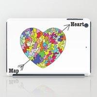Heart Map iPad Case