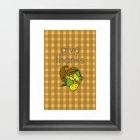 Give Thanks, November Co… Framed Art Print