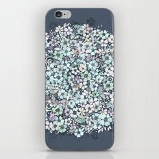Flower Circle, mist blue iPhone & iPod Skin