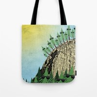 Sunning Trees Print Tote Bag
