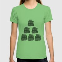 Cake and Flowers Womens Fitted Tee Grass SMALL