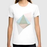 Pentagonal Dipyramid Womens Fitted Tee White SMALL