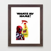 Whats my Name? Framed Art Print