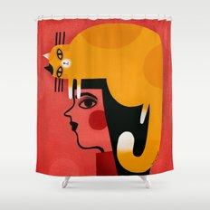 YELLOW CAT HAT Shower Curtain