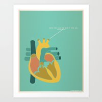 Aorta Tell You How Much I Love You Art Print