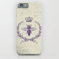 iPhone Cases featuring Queen bee by PlayMoji
