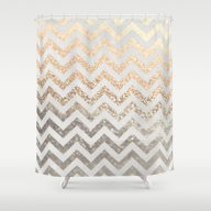 GOLD & SILVER  Shower Curtain