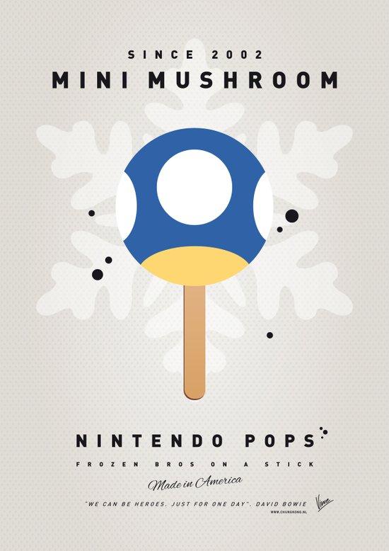 My NINTENDO ICE POP - Mini Mushroom Art Print