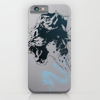 iPhone & iPod Case featuring Snow Leopard (Blue) by Ghostsontoast