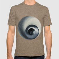 Spiral Abstract Mens Fitted Tee Tri-Coffee SMALL